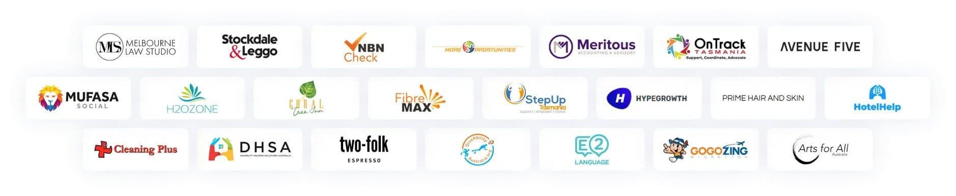 social fox melbourne client logos